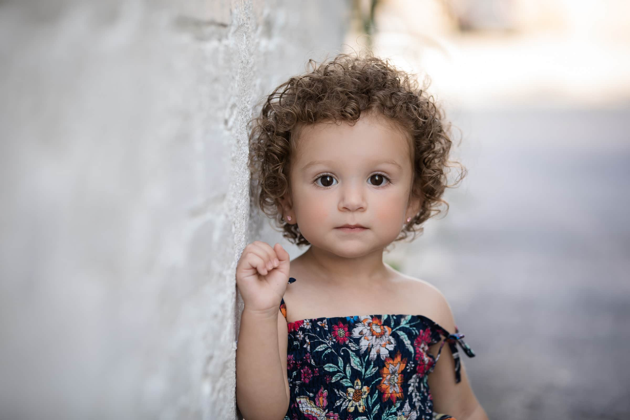 cute girl with curly hair