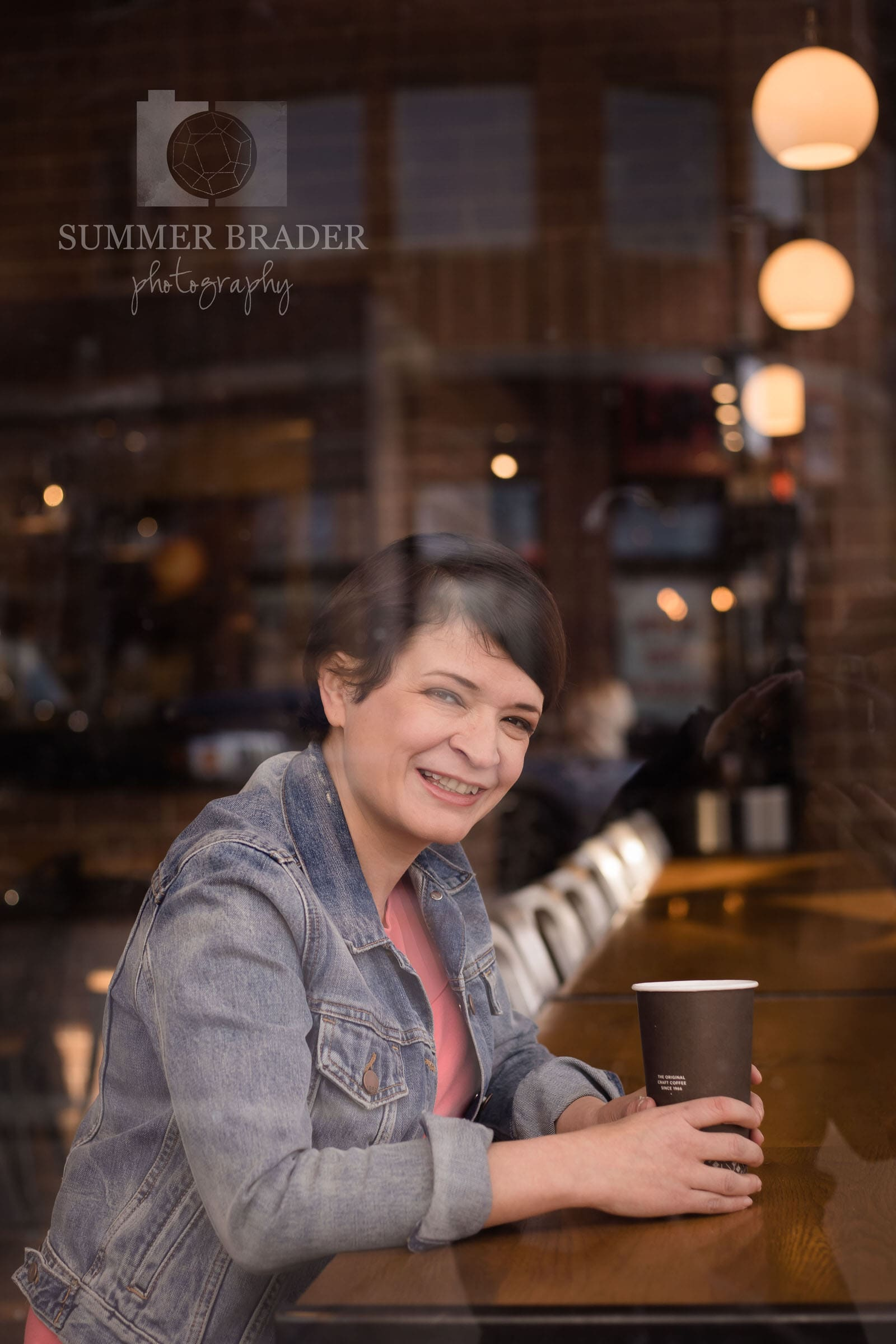Naperville head shot photographer relaxed fun coffee shop
