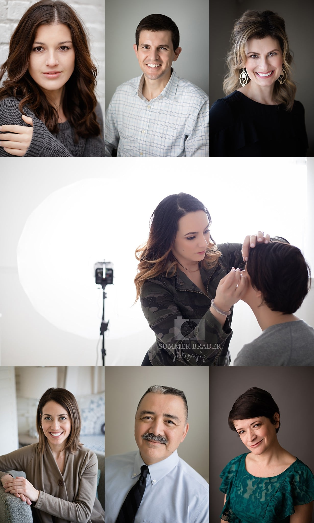 headshots in downtown downers grove studio